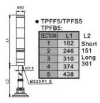Tend Technology TPFF5/TPFS5/TPFB5 Dimensions